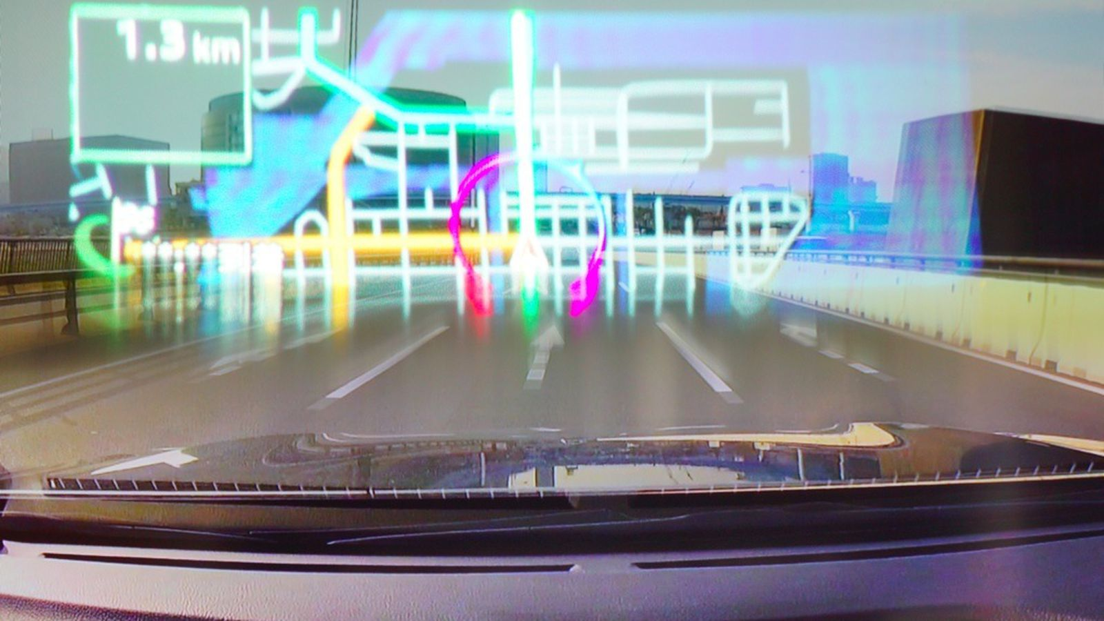 Taking Pioneer S Cyber Navi Laser Projected Car Hud For A