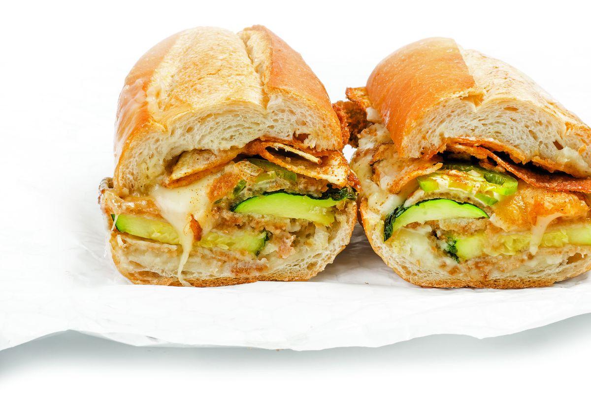 Recipe: A Spicy, Crispy, Cheesy Zucchini Parm Sandwich - Eater