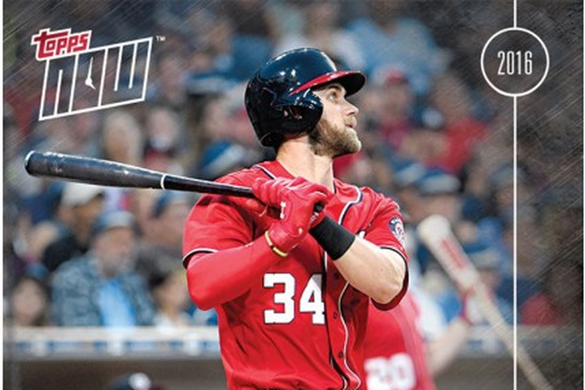 Bryce Harper - 2016 Topps NOW CARD 233 - Available until 1 ... Bryce Harper Outfield