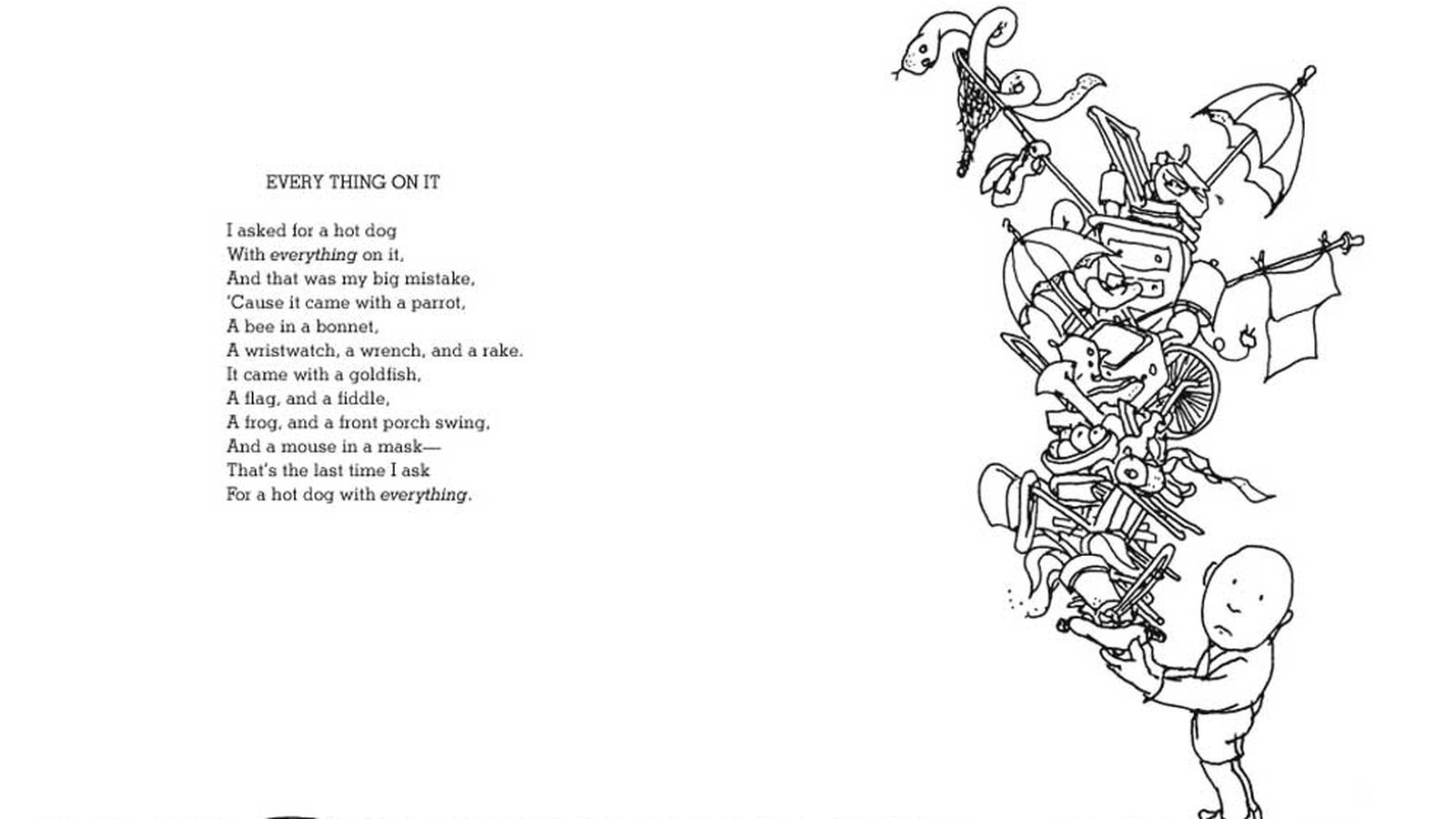 Shel Silverstein Rhymes About Hot Dogs Italian Food Eater
