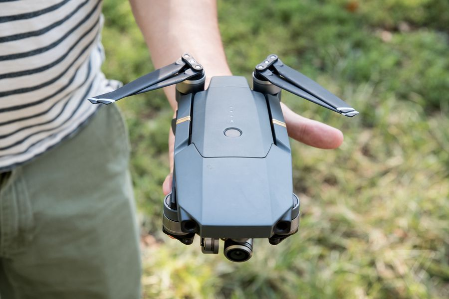 Dji S New Mavic Pro Drone Folds Up And Fits In The Palm Of Your Hand The Verge