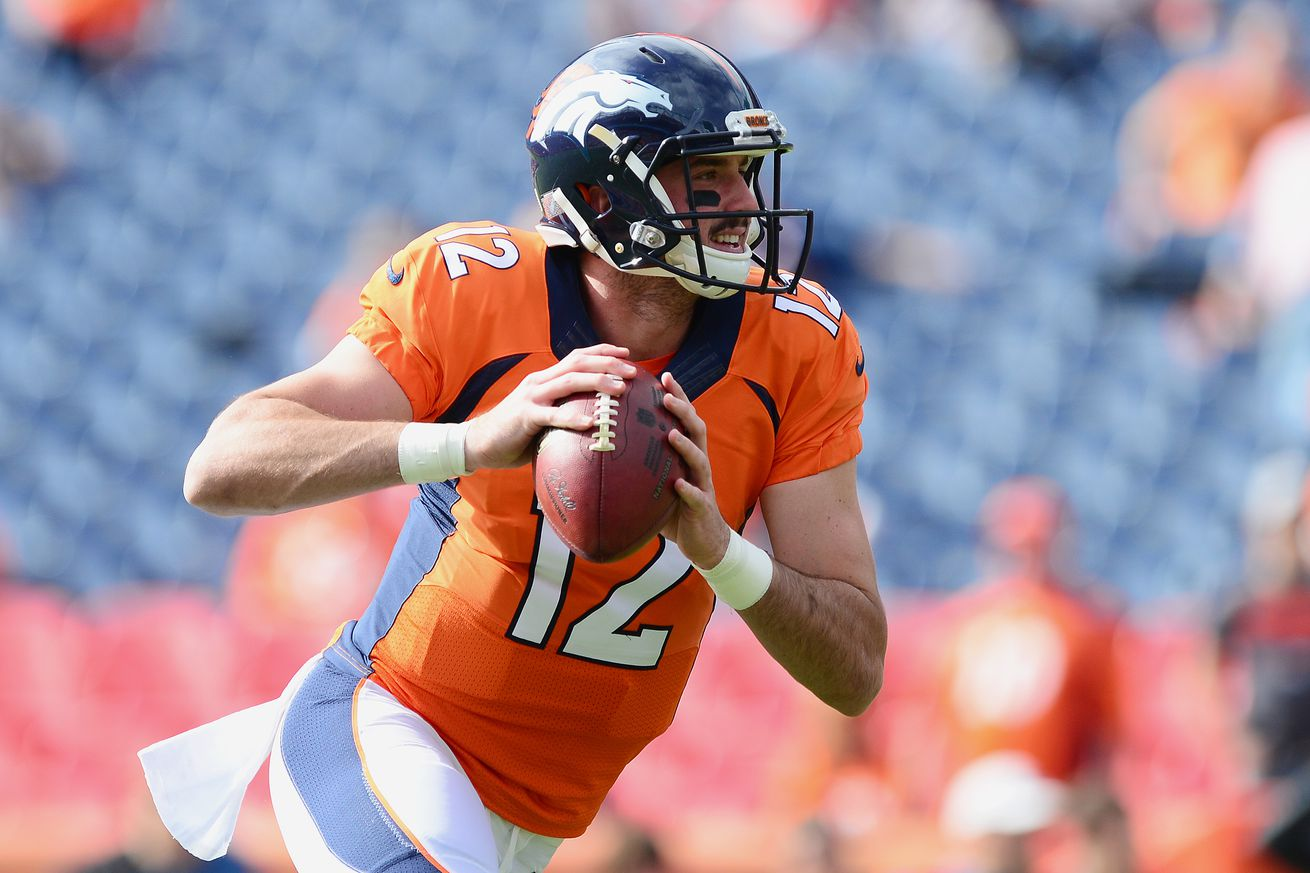 Paxton Lynch to start Sunday against Jaguars