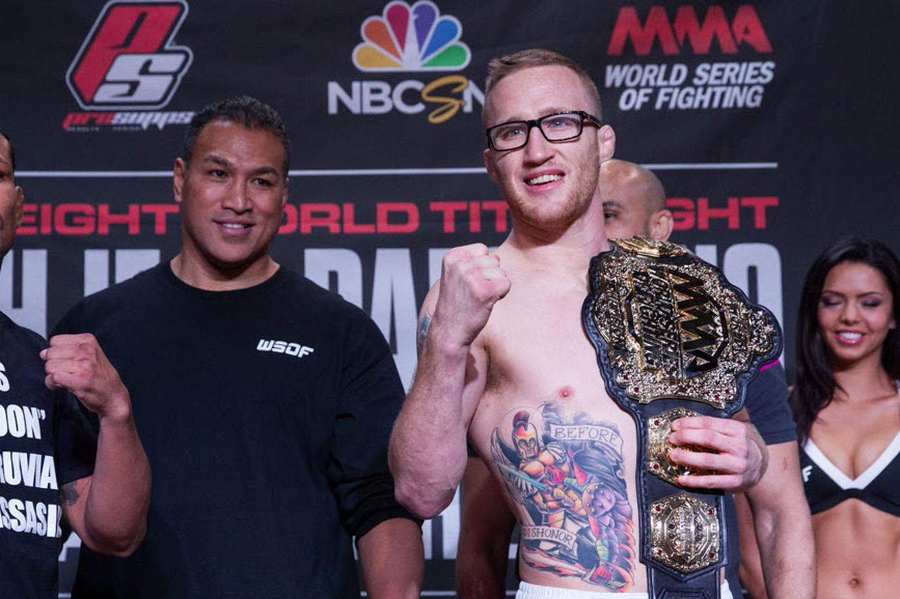 community news, Justin Gaethje tests free agency, but WSOF still holds matching rights