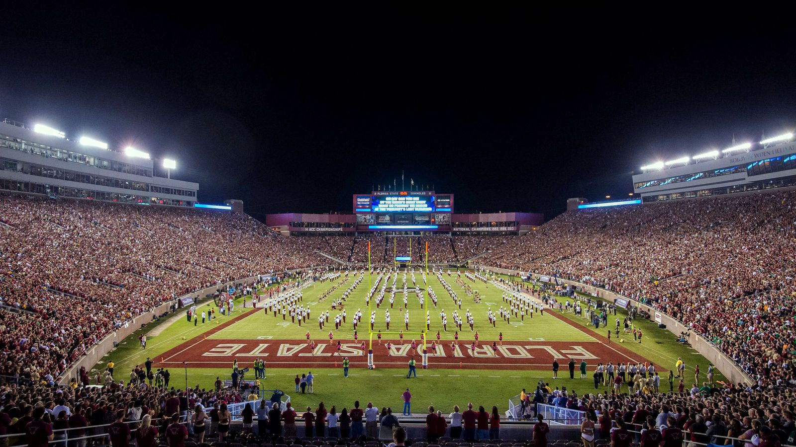 Drone footage: Doak Campbell Stadium lighting renovations ...