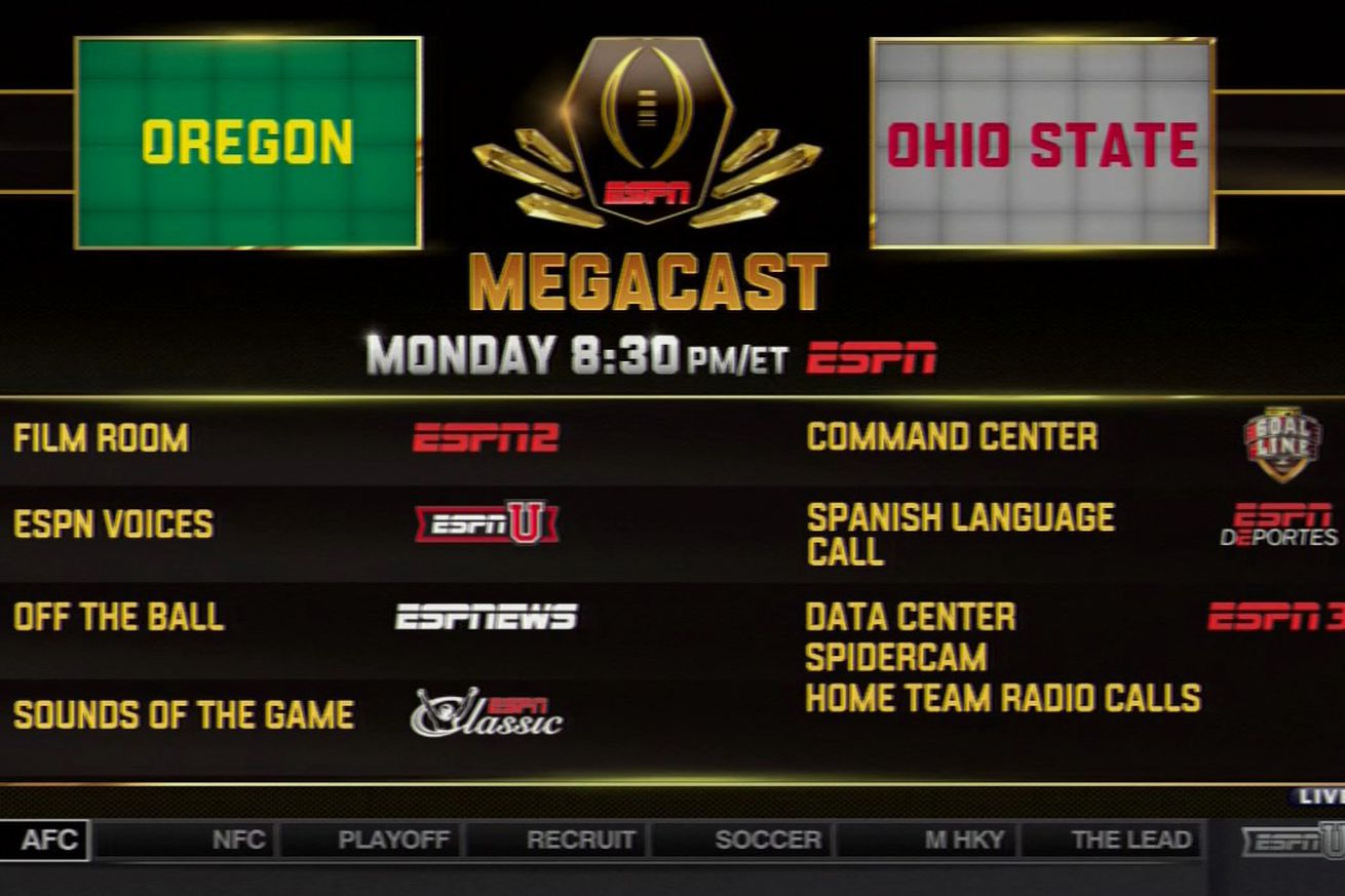 espn national championship college football tv schedule week 1