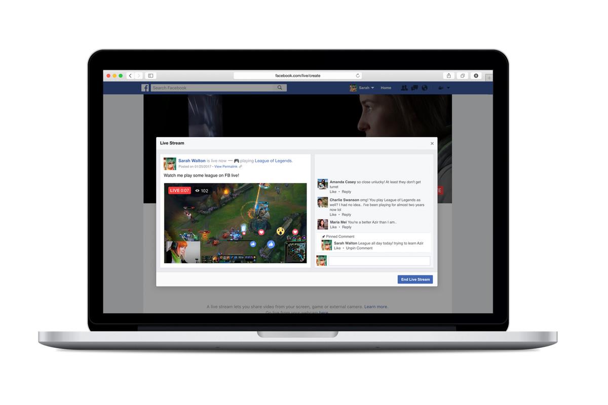 Facebook Live adds PC game and desktop livestreaming
