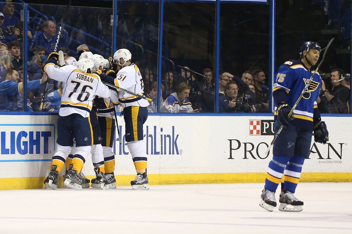 Jaskin, Schwartz score as Blues beat Predators 2-1