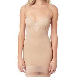 "Triumph <a href=""http://www.journelle.com/shapewear/full-slips/triumph-perfect-sensation-bodydress/TRI-47172.html"">Perfect Sensation Bodydress</a>, $90"