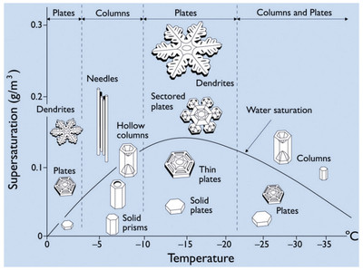 Snowflake temperature and humidity