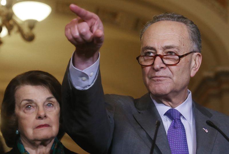 Democratic Senators Meet On Capitol Hill