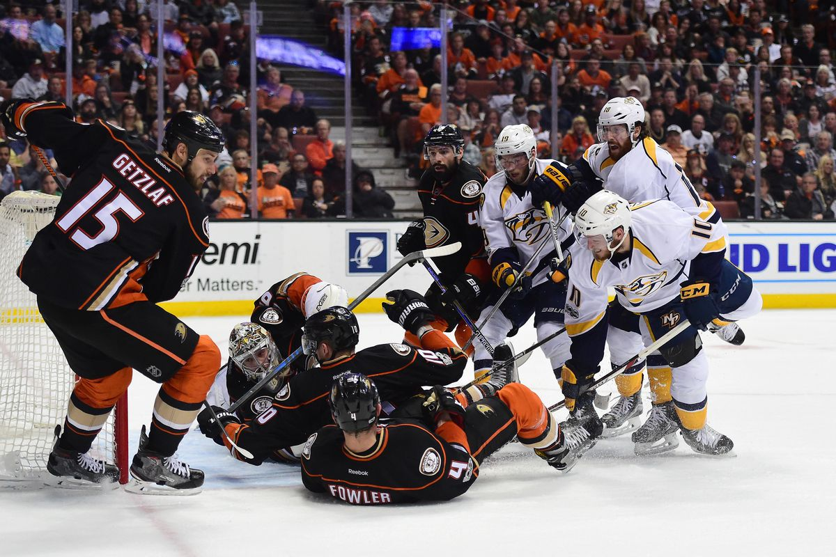 Predators take Game 1 in OT against Ducks