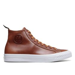"""If you don't get these for your groomsmen, at least get them for yourself (or me): Todd Snyder x PF Flyers <a href=""""https://www.toddsnyder.com/collections/todd-snyder-p-f-flyers/products/pf-flyers-hi-leather-glazed-ginger-brown"""">Leather High Tops</a> ($160)"""