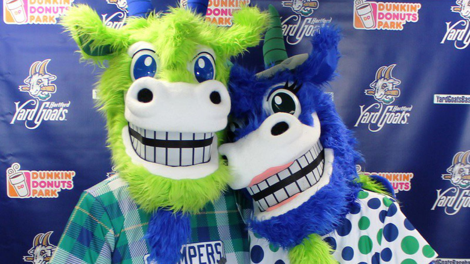 The Hartford Yard Goats Have Terrifying New Mascots And It