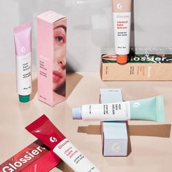 """Glossier <a href=""""https://www.glossier.com/products/four-flavored-balm-dotcoms"""">Four Flavored Balm Dotcoms</a>, $40"""