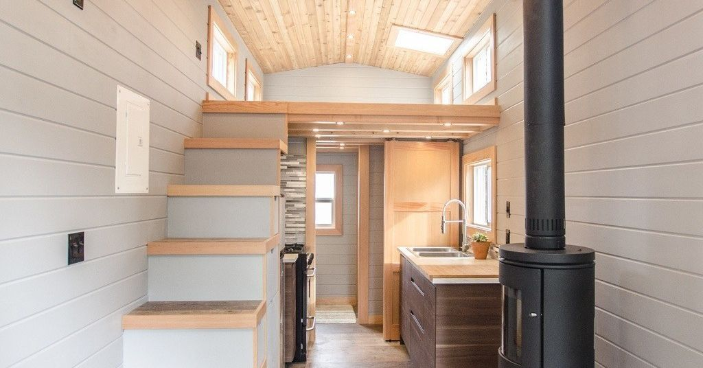 tiny house goes off grid with big amenities curbed. Black Bedroom Furniture Sets. Home Design Ideas