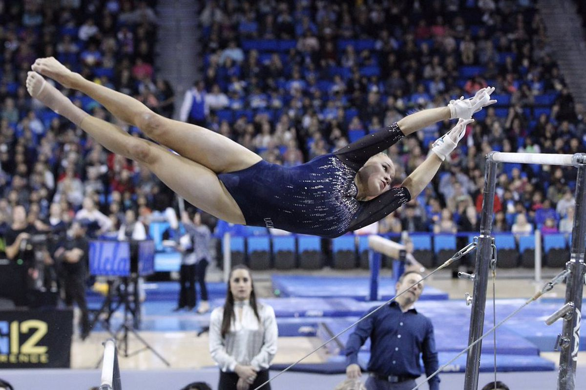 UCLA gymnastics heads to Super Six after standout semifinal routines