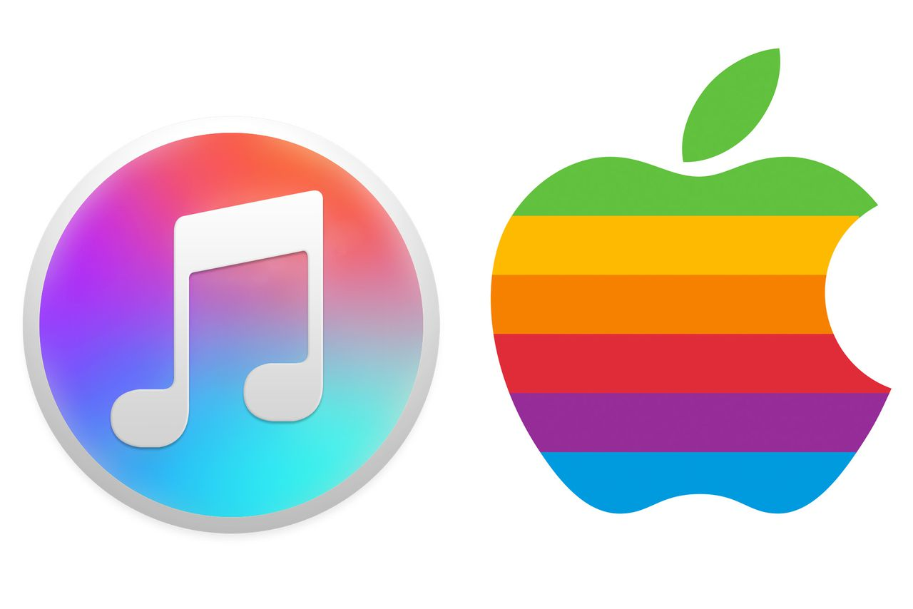 The new iTunes icon is a throwback to Apple's classic logo ...