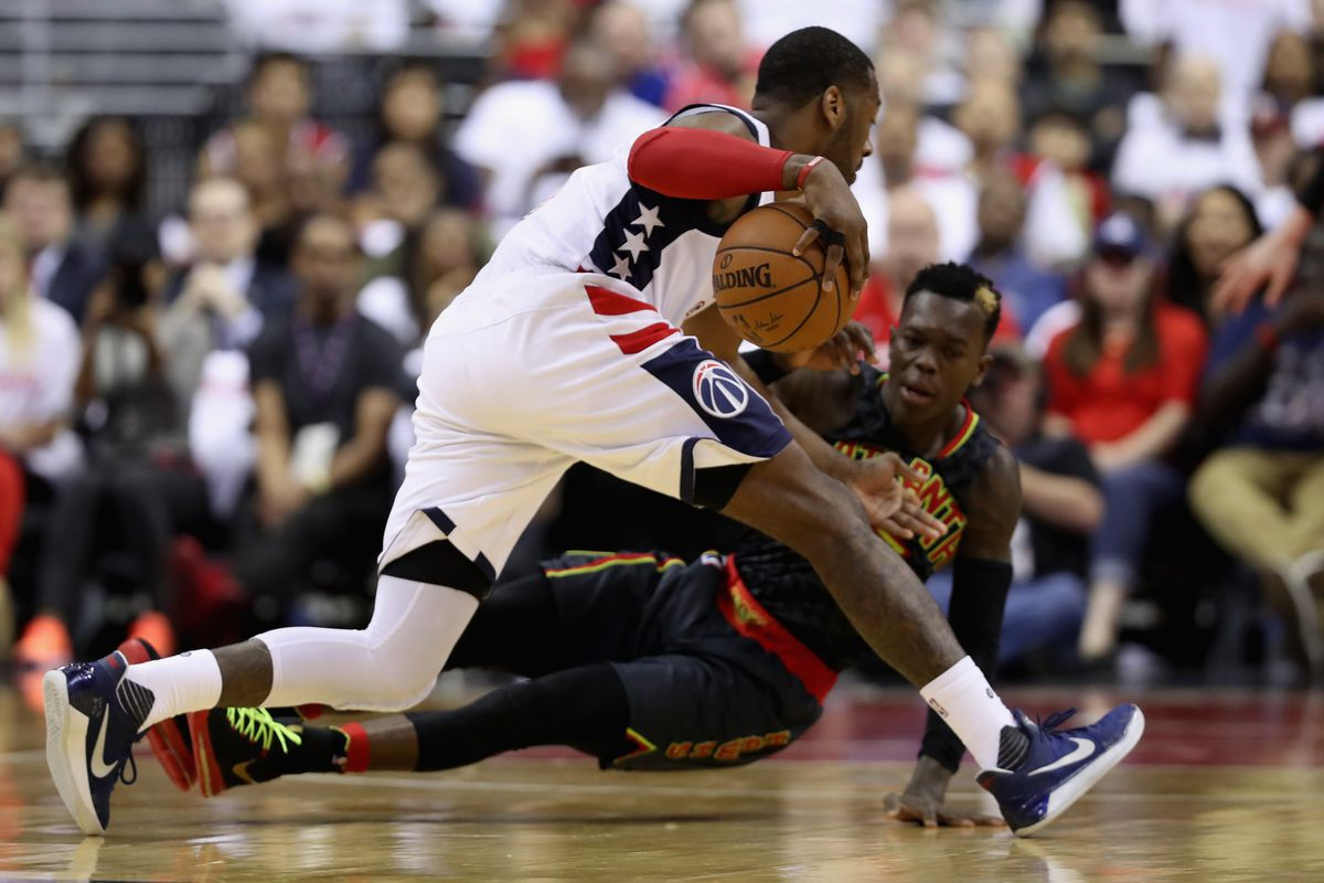Hawks tie series with Wizards; Warriors coast to next round