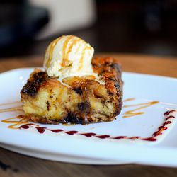 Chocolate bread pudding at The Social Register