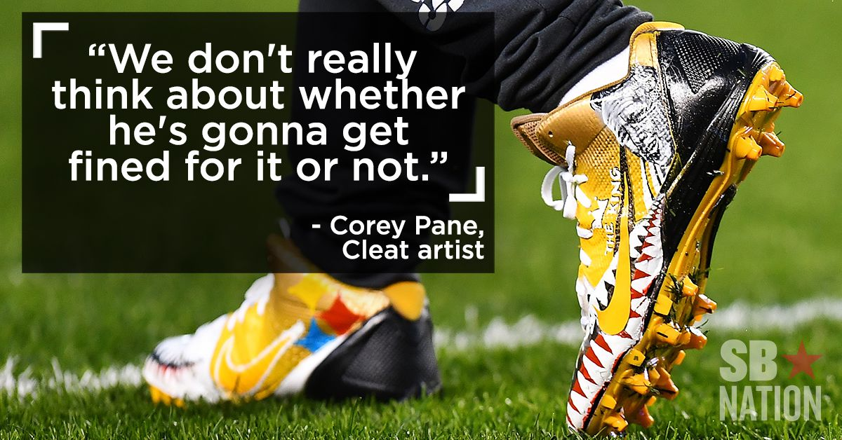 2b4df6167 How two artists making custom cleats are helping change the NFL s culture -  SBNation.com