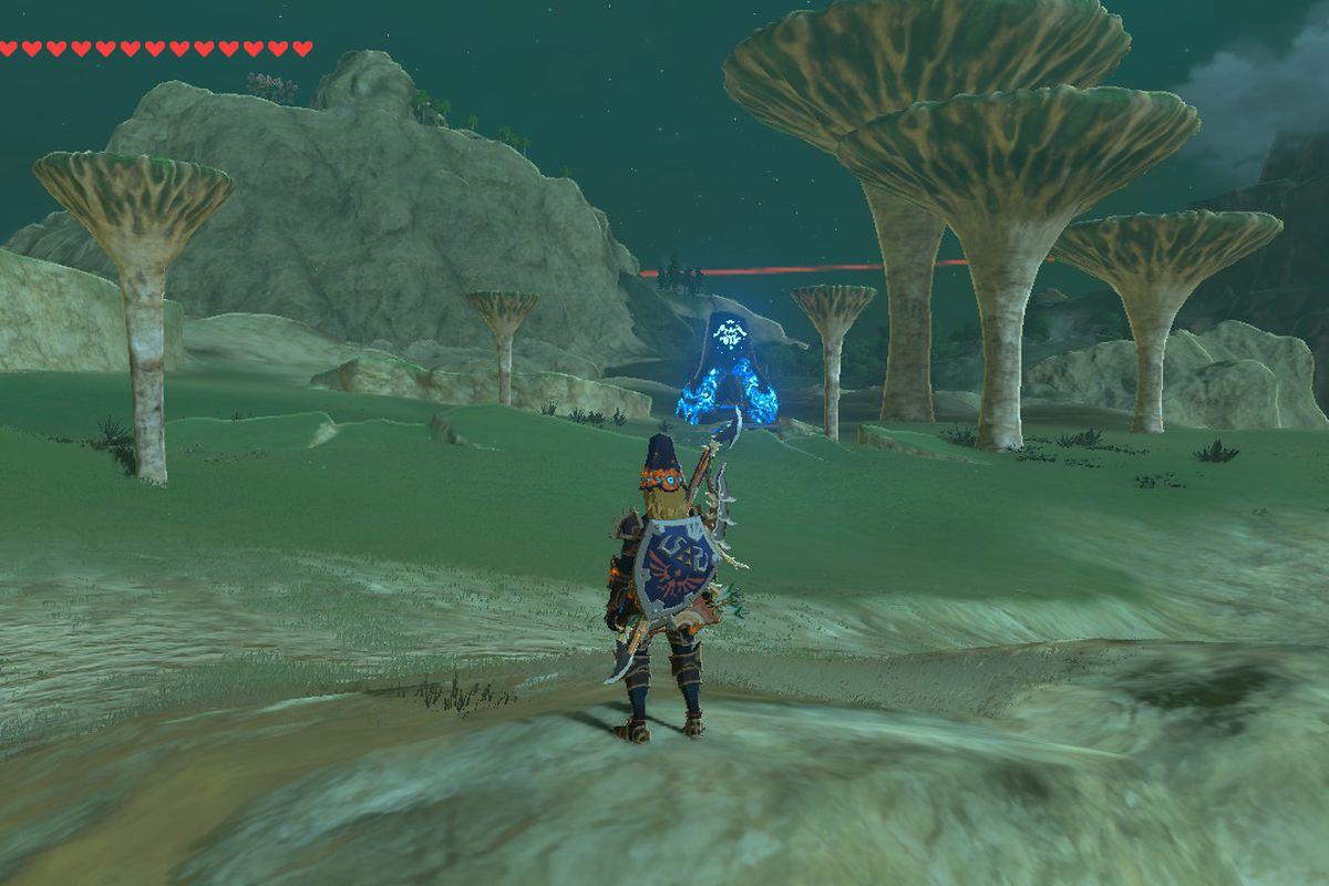Zelda breath of the wild under a red moon shrine quest for Bureau zelda