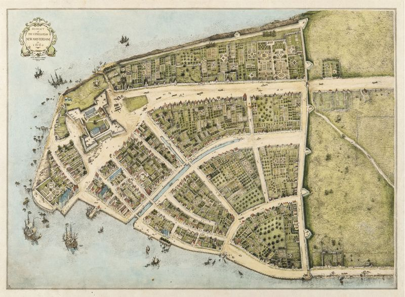 When Wall Street Was a Wall A 1660 Map of Manhattan Curbed NY – Map Manhattan Ny