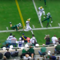 To Michigan State's credit, they strung the play out and Peppers only got a minimal game.