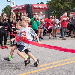 200-yard dash. September 10, 2017. Canes 5k benefitting the Carolina Hurricanes Kids 'N Community Foundation, PNC Arena, Raleigh, NC