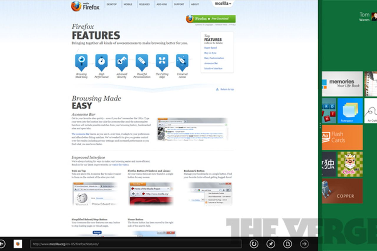 Mozilla planning a Windows 8 Metro version of Firefox ...