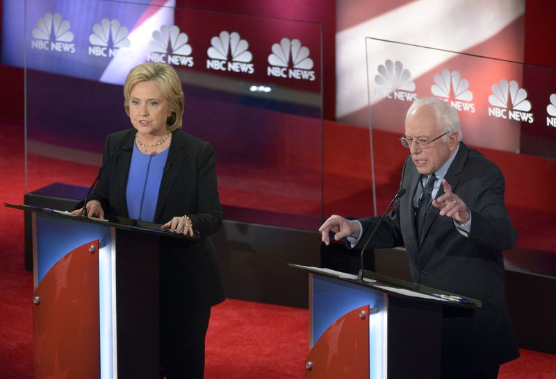 Hillary Clinton and Bernie Sanders (Getty)