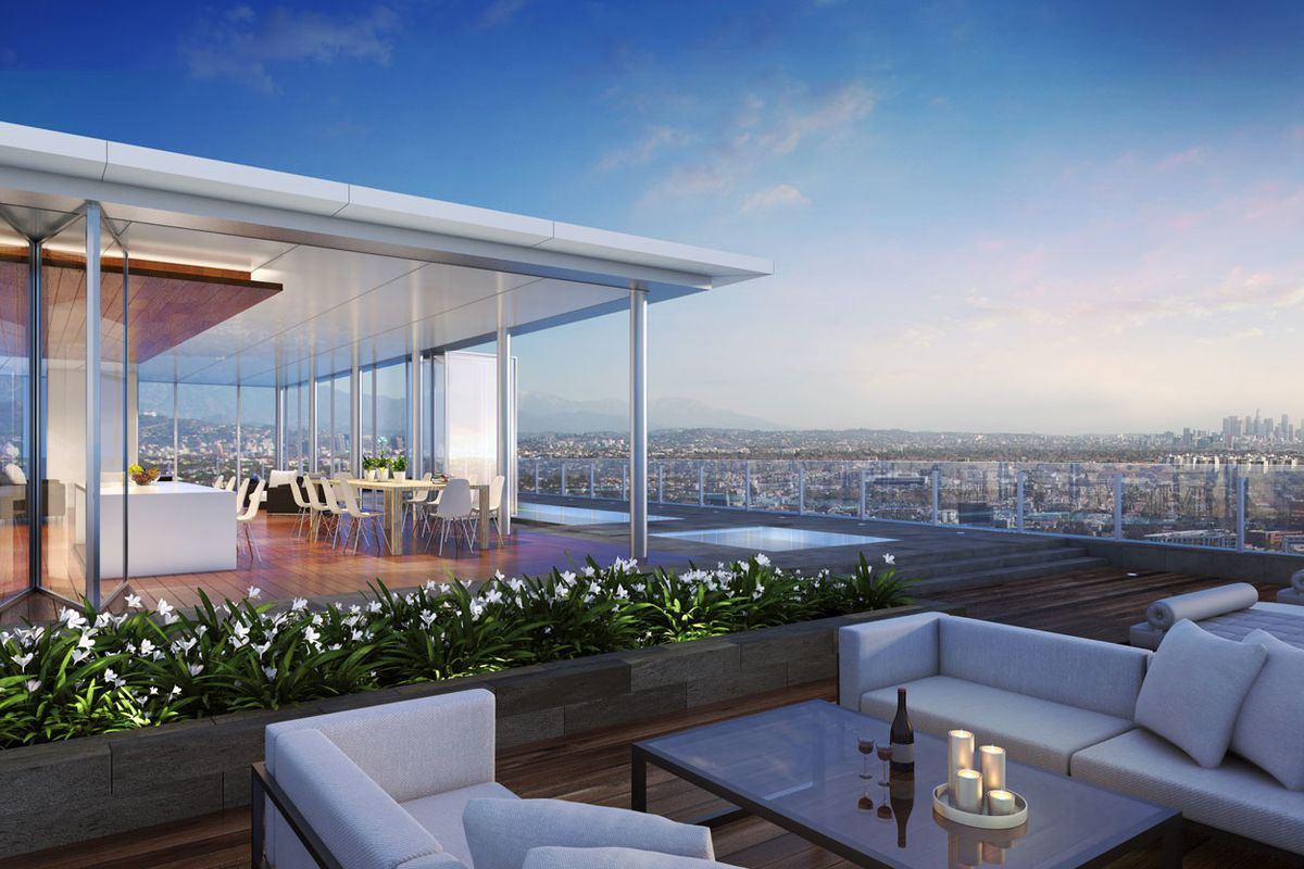 Enormous unbuilt penthouse just outside beverly hills for Apartments for sale beverly hills