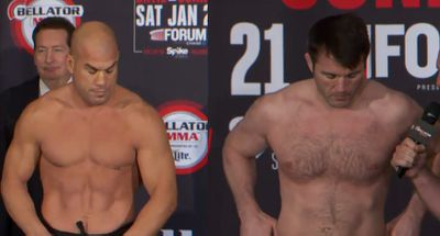Staredowns! Watch Tito Ortiz and Chael Sonnen go head to head at Bellator 170 weigh ins
