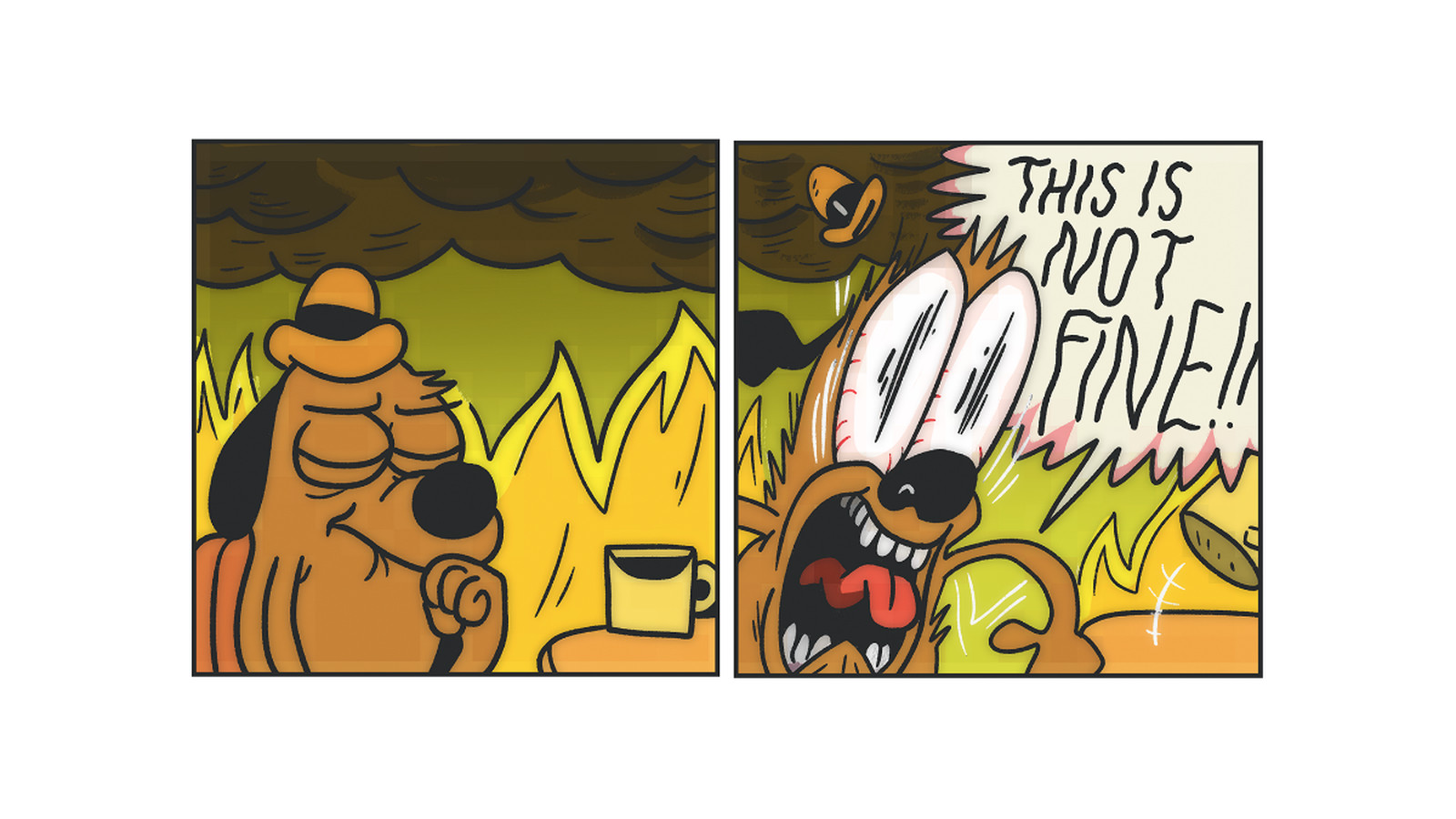 Dog In House On Fire Comic