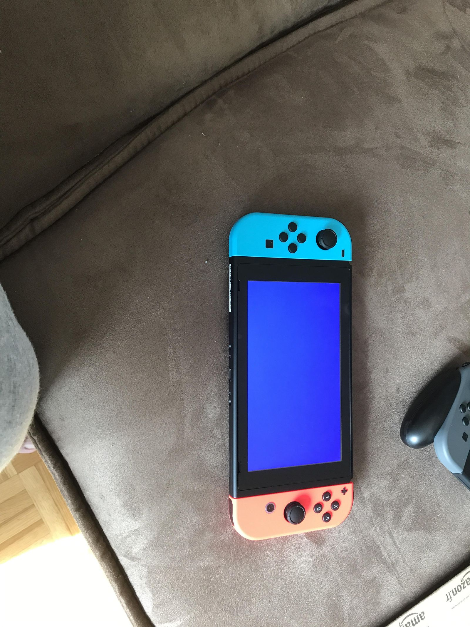 Niebieski ekran Nintendo Switch po pojawieniu się krytycznego błędu
