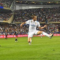 Gareth Bale definitely put pressure on the MLS All-Stars in the second half.