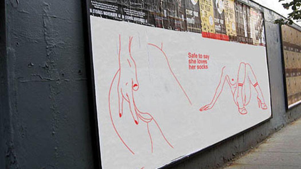 American Apparel Socks Ad Billboards: faux american apparel ad pushes ...