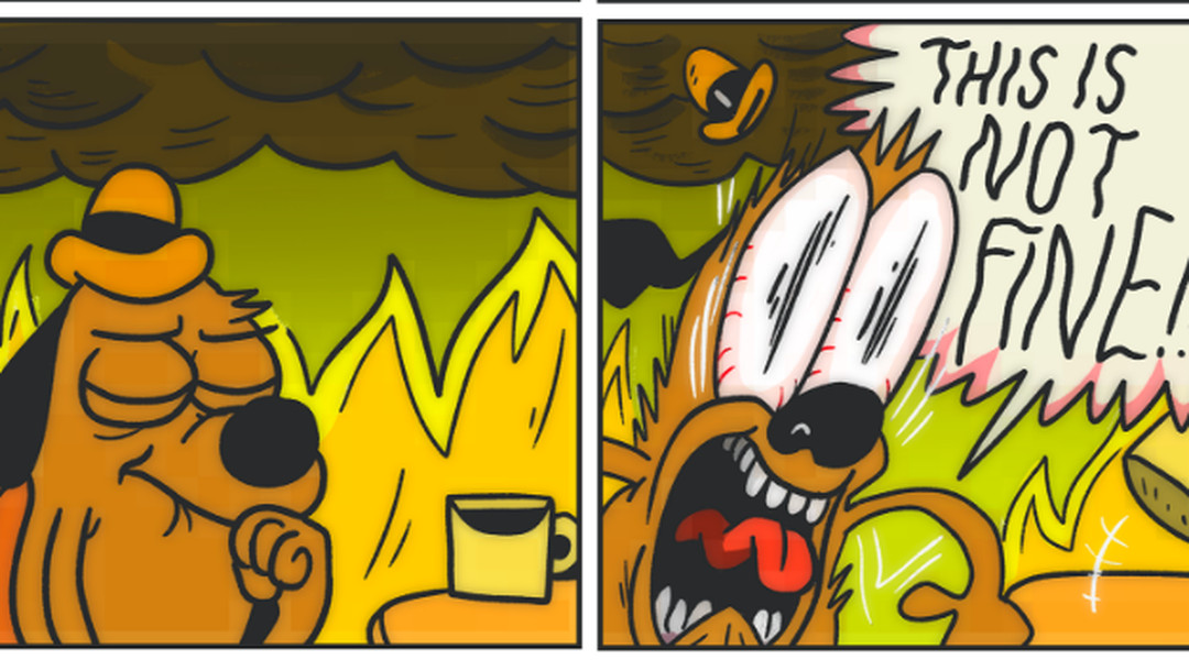 """2016 update from """"this is fine"""" dog: things are not, in ..."""