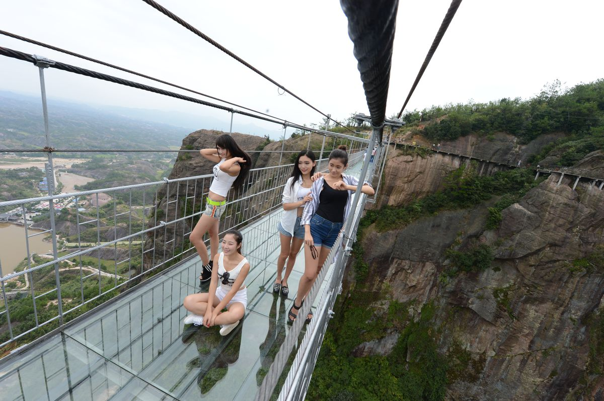 China glass bridge Getty