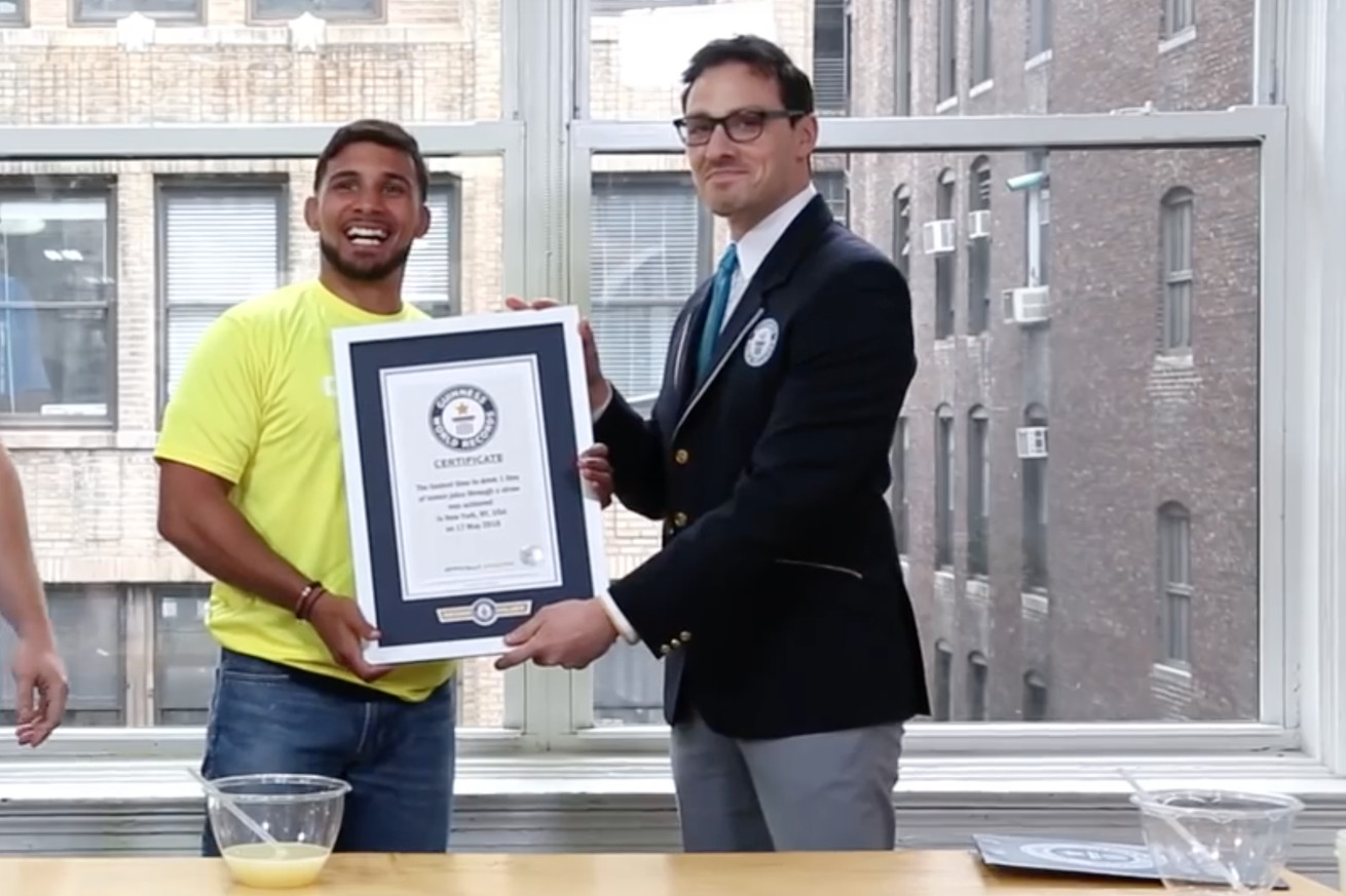community news, UFCs Dennis Bermudez breaks Guinness World Record for drinking lemon juice