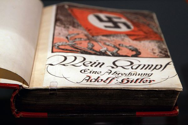 A copy of Mein Kampf at the Deutsches Historisches Museum (German Historical Museum) on October 13, 2010 in Berlin, Germany