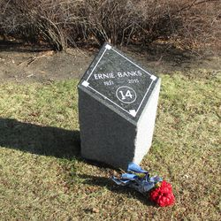 Made a side trip to Ernie's gravesite, scheduled to receive a new, larger monument sometime this year