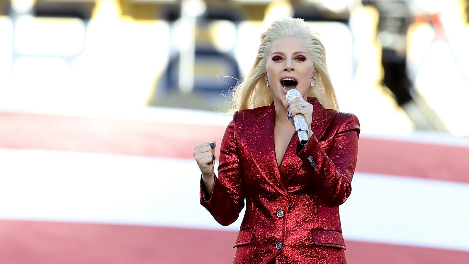Watch Lady Gaga sing the national anthem at the Super Bowl ...