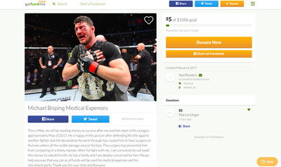 community news, Yoel Romero trolls Michael Bisping with GoFundMe page for medical expenses