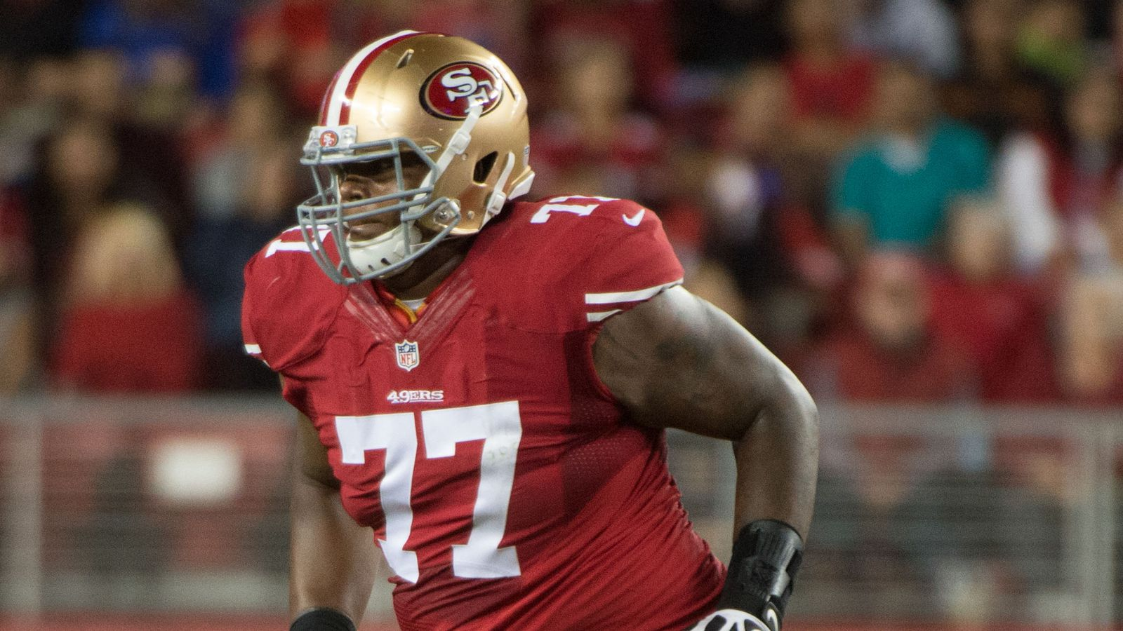 Jerseys NFL Online - Joe Staley expects Trent Brown to take over 49ers right tackle ...