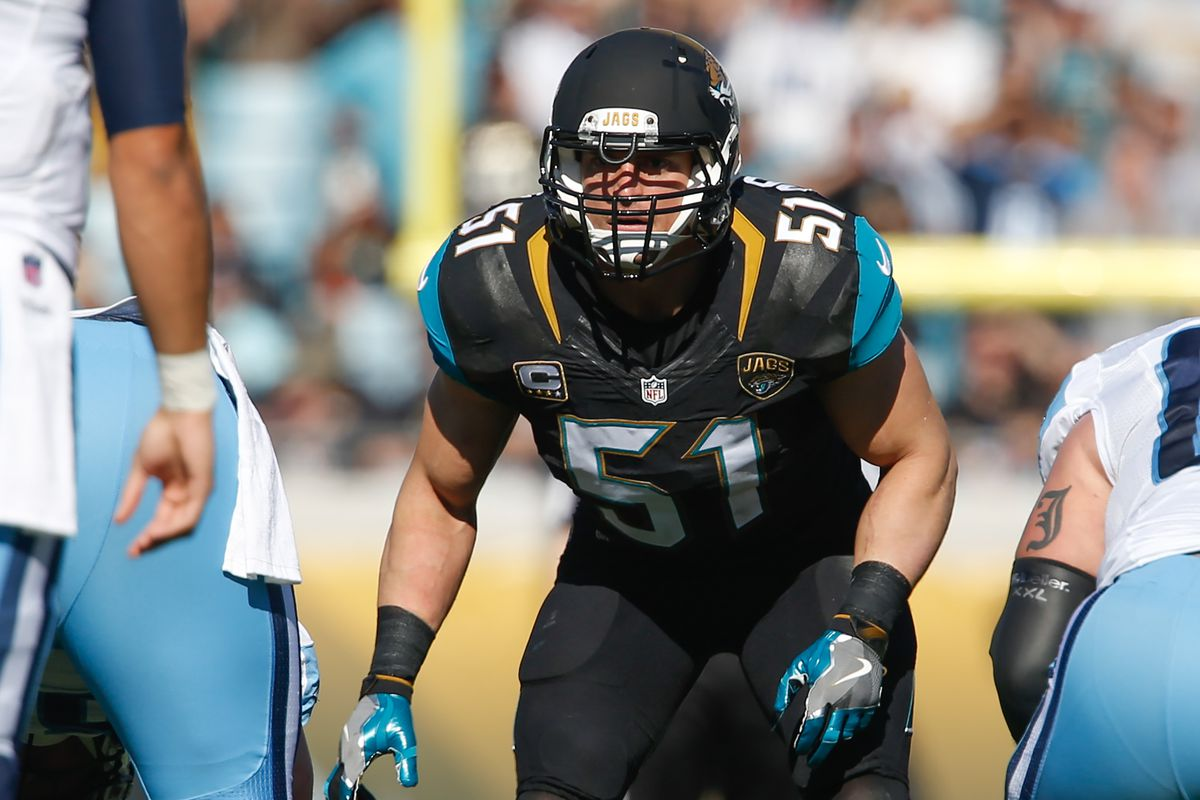 Jags' Posluszny switching positions for 1st time in career
