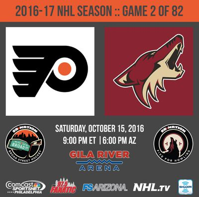 flyers-coyotes october 15 2016
