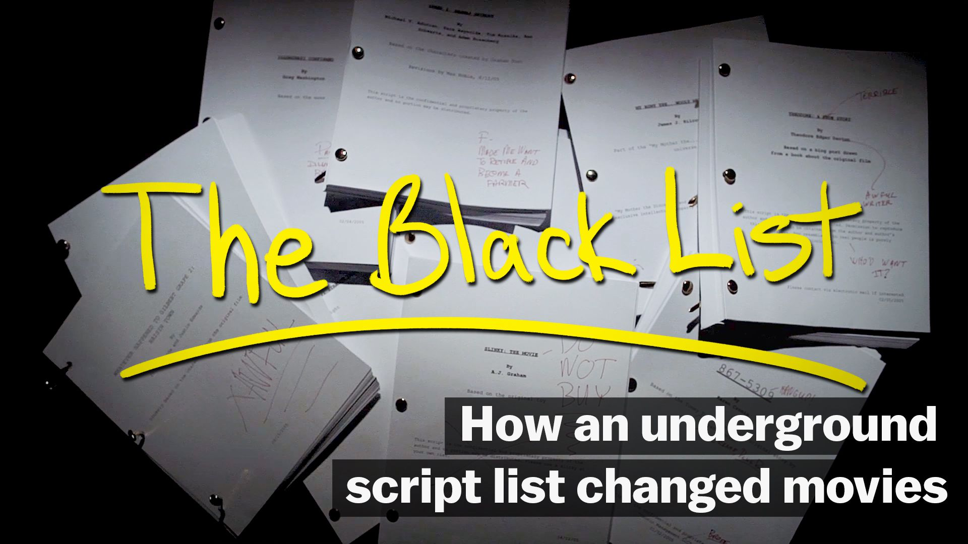 Image result for How an underground script list changed movies