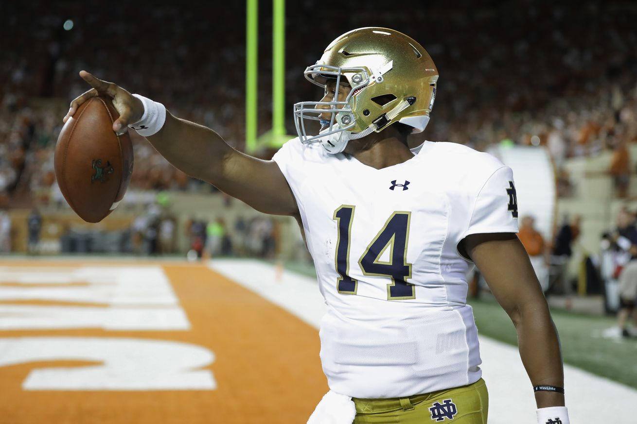 Brian Kelly says 'tap the brakes and relax' about Notre Dame's defense