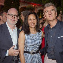 From left, Troy Young (Hearst), Bonita Steward (Google), Laurent Cordier (Google)