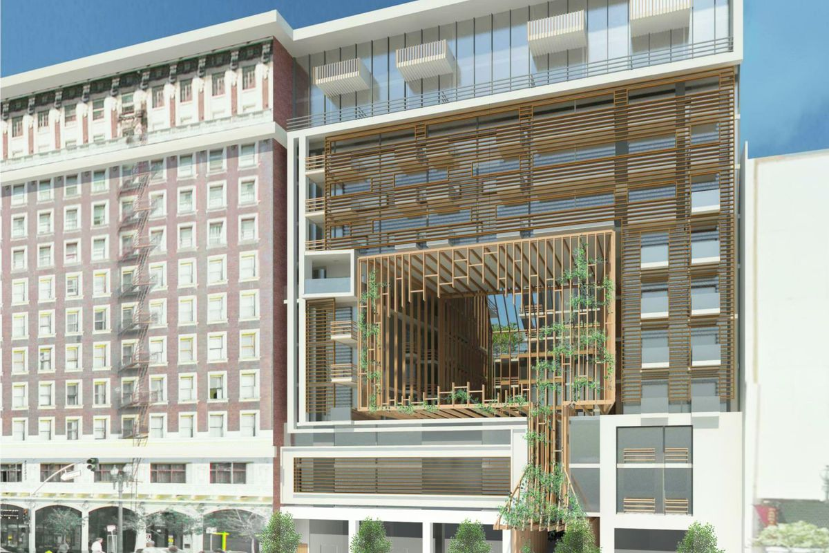 new main street apartment building would have cool peek through